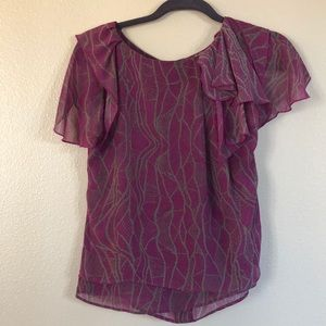 BCBGeneration blouse purple with gray